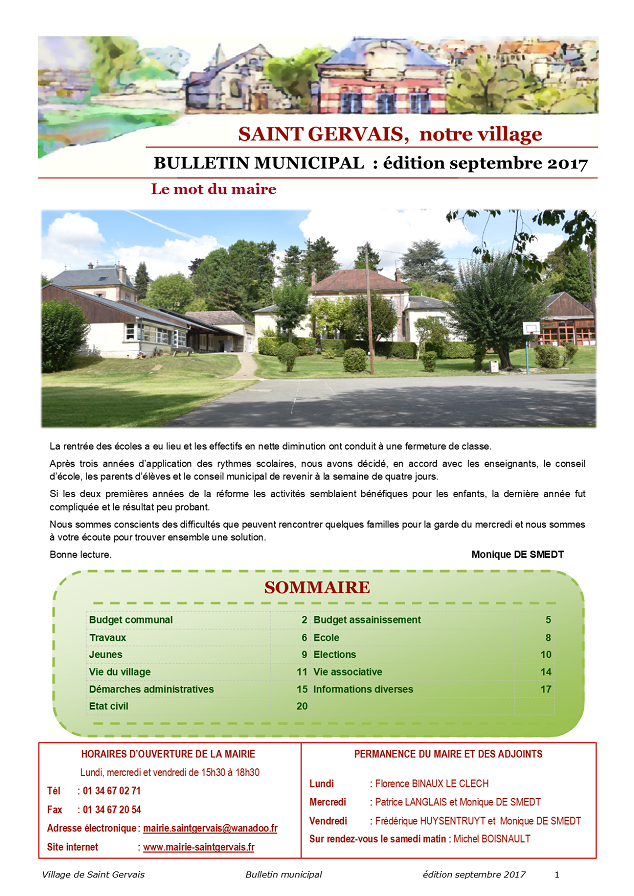 Bulletin municipal septembre 2017