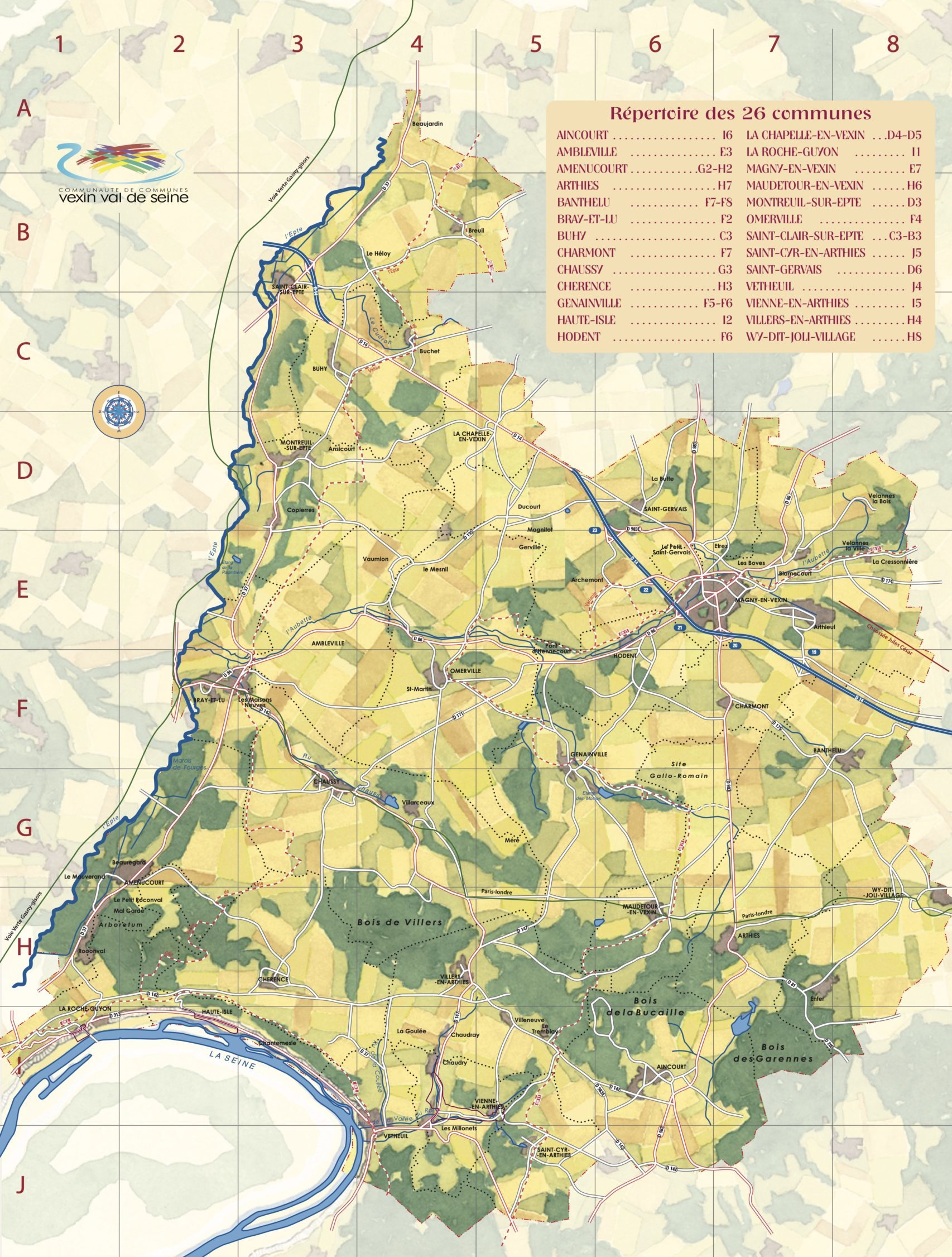 carte touristique de la ccvvs