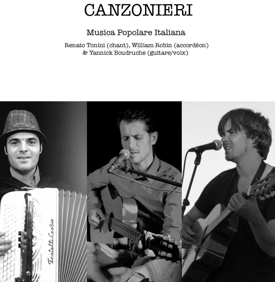 Samedi 25 septembre : Canzonieri, musique italienne.